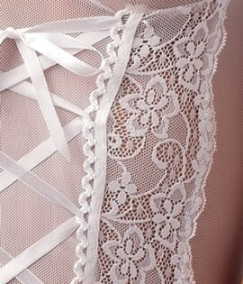 Marcelle White Corset Detail