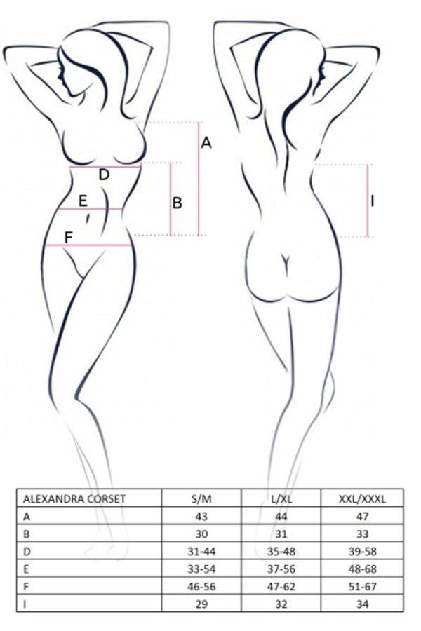 Alexandra Corset Size