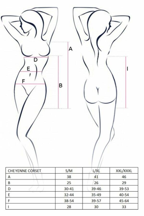 Cheyenne Corset Size