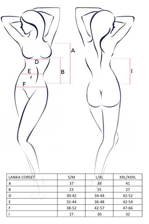 Lanka Corset Size