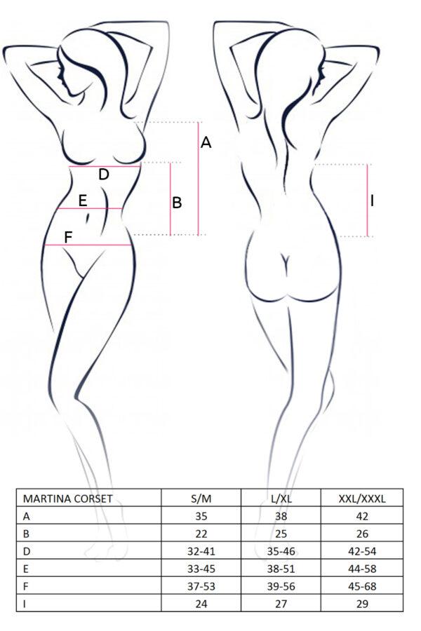 Martina Corset Size